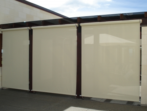 External Sunscreens /Patio Blinds. Rollershades. External Roller Shades